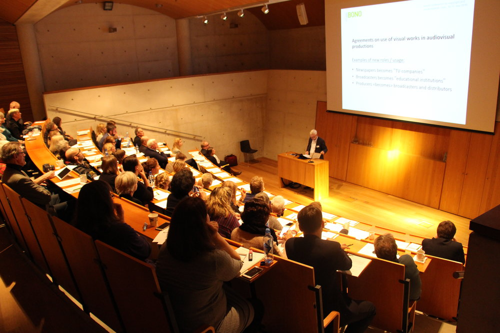 Harald Holter, daglig leder i BONO, holder innlegg under konferansen NOBOS 2016. Foto: BONO