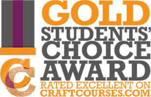 Turning Hare Woodcraft haS a gold award for receiving 50 out of 50 gold stars in student reviews.  craft courses, the UK's leading craft course network.