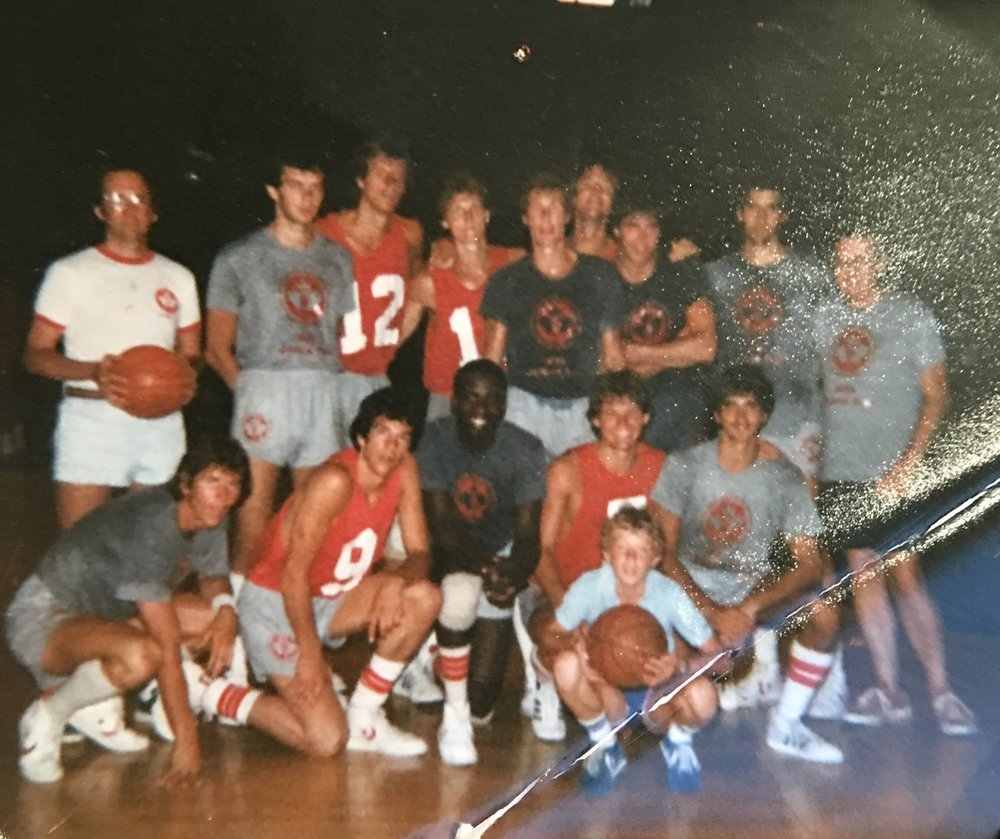 12, and lucky enough to be the water boy for the Canadian Olympic basketball team. One of the perks when your father is executive director of Basketball Canada.