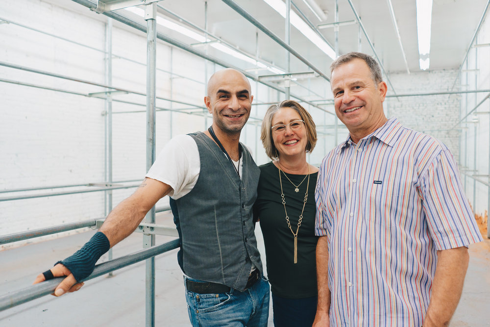 Left to Right: Rami Mikhail Sadek (Co-owner,  LangLab ), Cheryl & David Ziker (Owners, Vested Interest &  Ziker Cleaners )