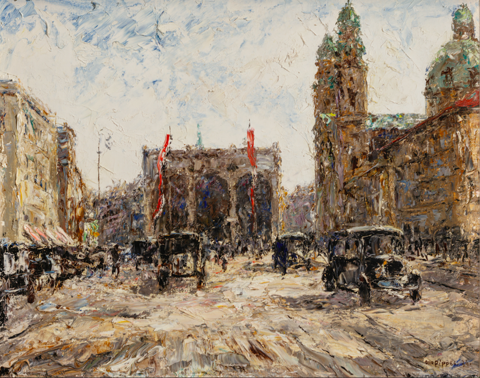 Otto Pippel, Odensplatz, 1934, Öl auf Leinwand, 49 x 61 cm.Foto © Martin Weiand