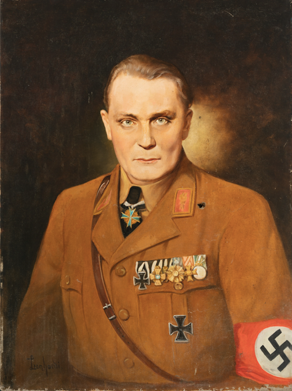 Leonhardi: Porträt Hermann Göring, 1945-46, Öl auf Leinwand, 80 x 60 cm. Foto © Martin Weiand