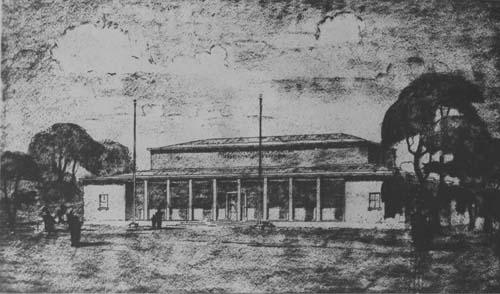 Entwurf des Geheimrats Dr. German Bestelmeyer für die Errichtung der städtischen Gemäldesammlung in Rosenheim, 1935  Foto: Stadtarchiv Rosenheim