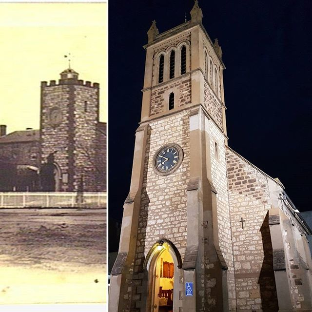 Adelaide's first church (North Terrace):Trinity (Anglican) Church is the first church built in Adelaide and one of the city's oldest buildings. Helen's German great-great grandparents travelled from Hahndorf in 1854 to be married here.