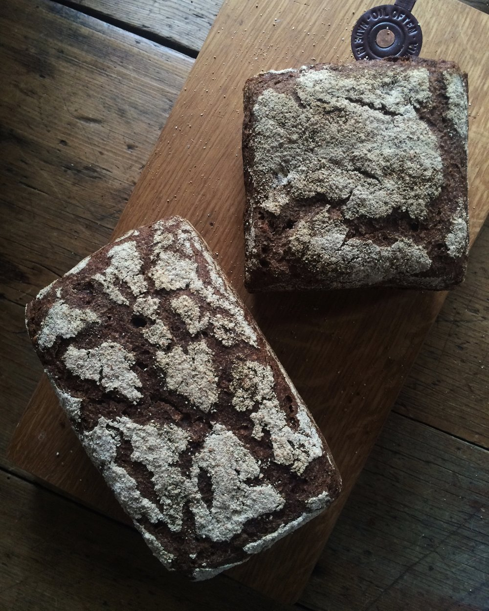Rye Spelt Loaf, one of Katrina's favourite.