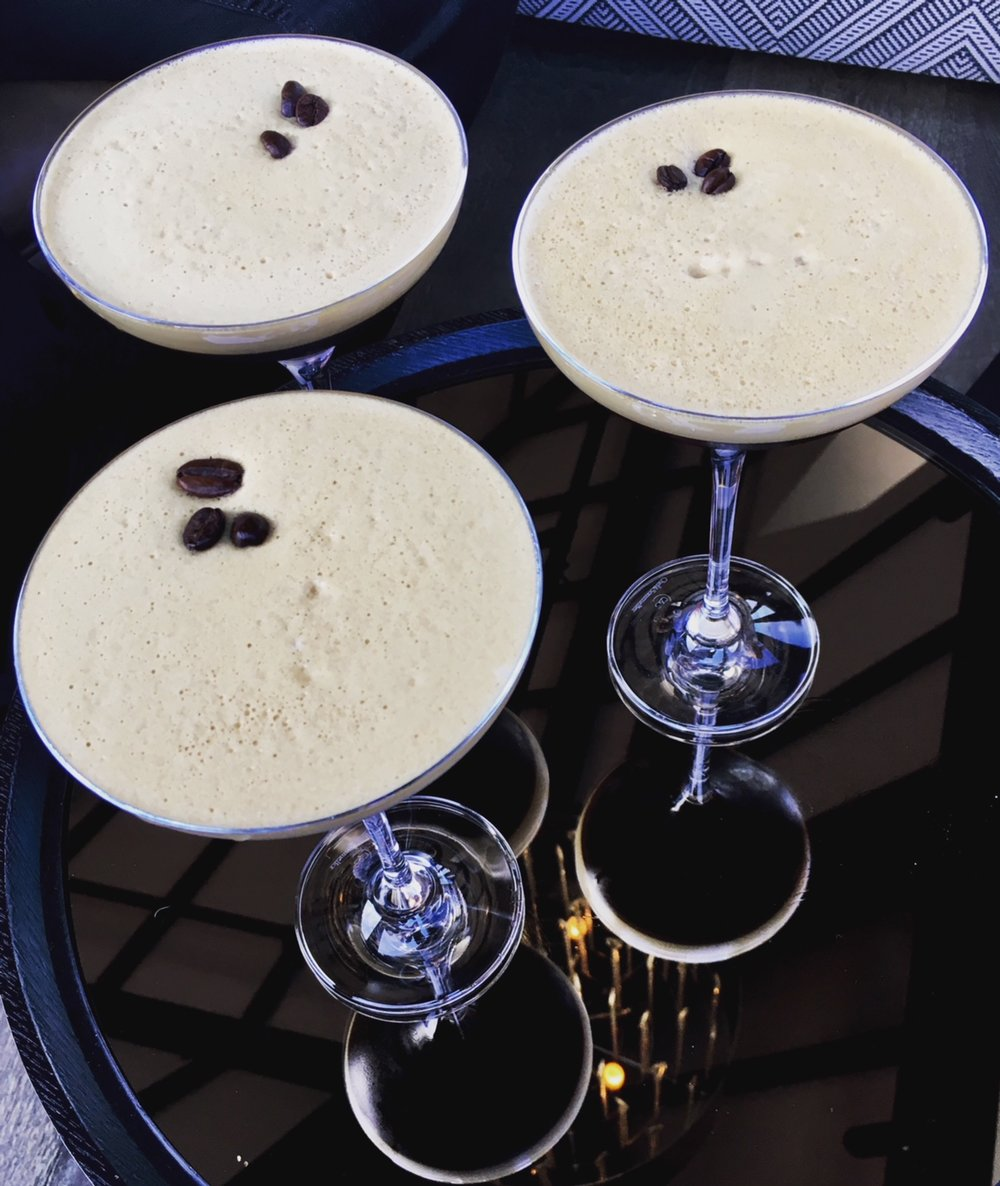 Espresso Martinis at The Hennessey Rooftop Bar