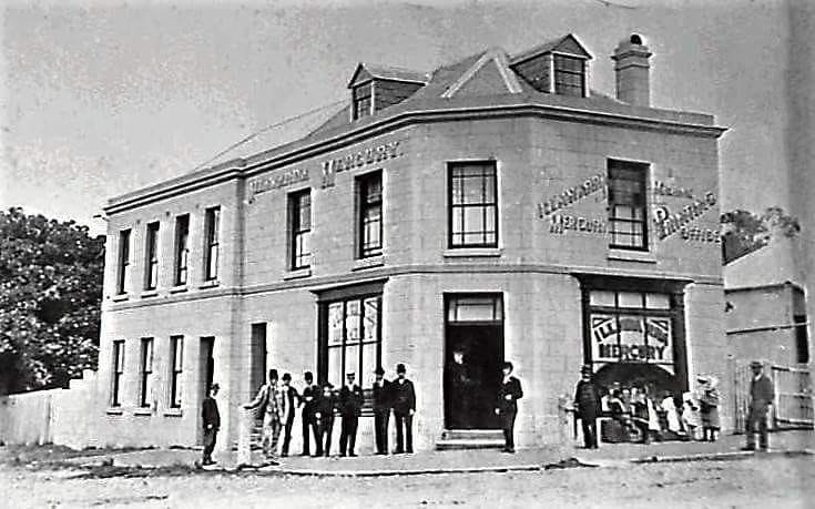 The Illawarra Mercury building on the corner of Kembla and Crown streets (Lang's Corner) in 1920.