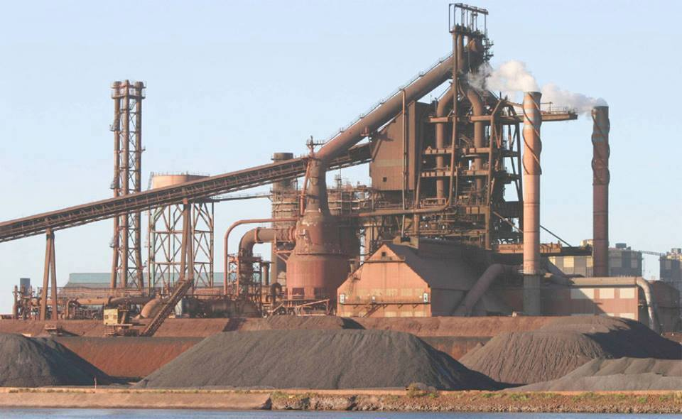 The Port Kembla Steelworks in the 1960s.