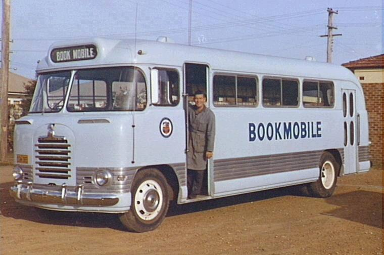 The Wollongong Library Bookmobile in the 1960s.