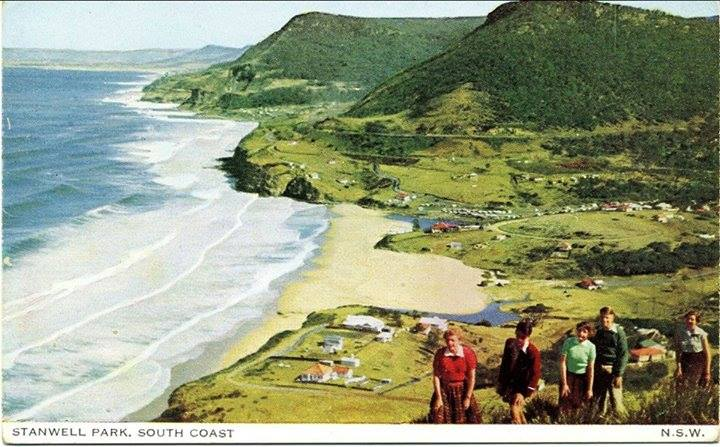 The view of Stanwell Park from Bald Hill in the 1950s.