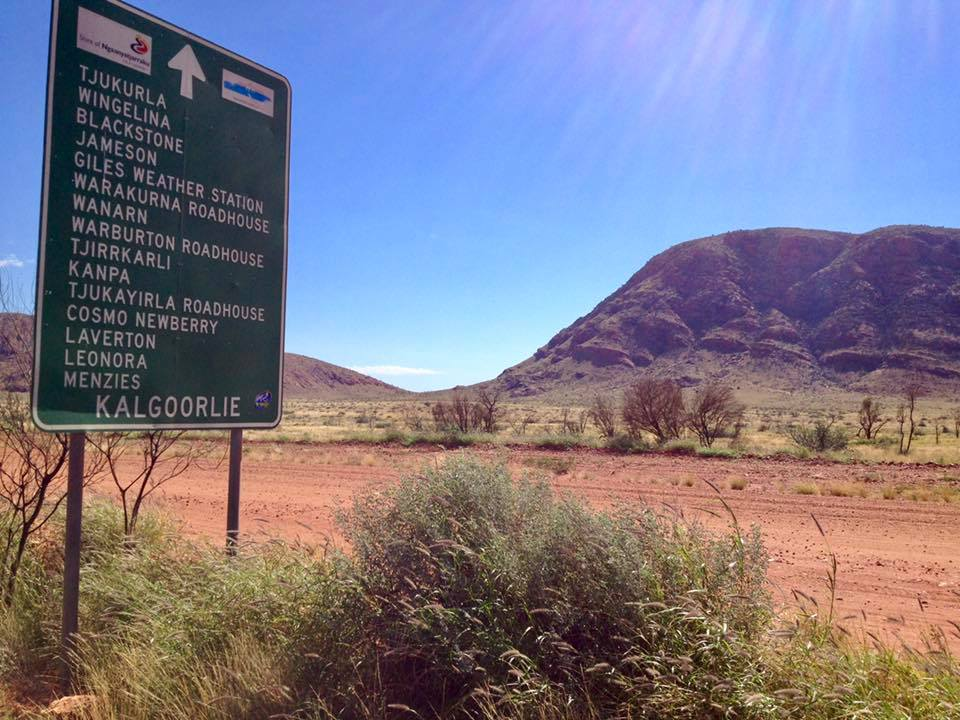 The Great Central Road from Kata Tjuta (the Olgas) to Kalgoorlie