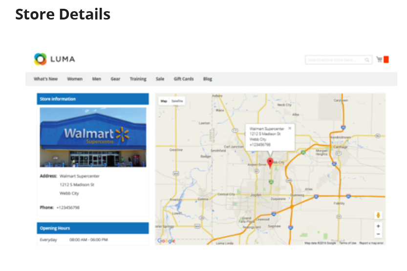 Store Locator Front-End View