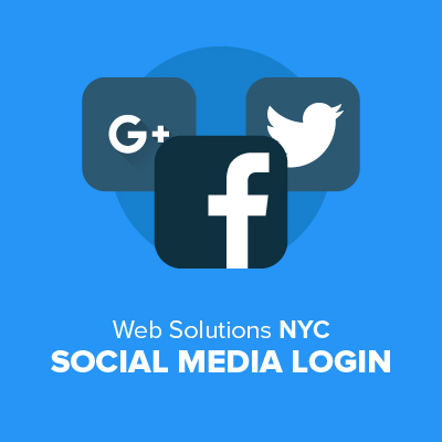 Customers can login with Twitter, Facebook or Google+. Click to see more.