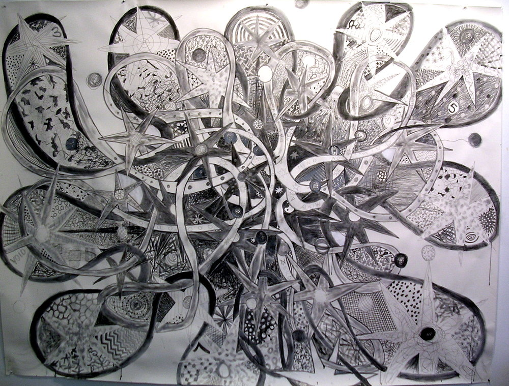 Big Bang 2 graphite on paper 48 x 70 in.