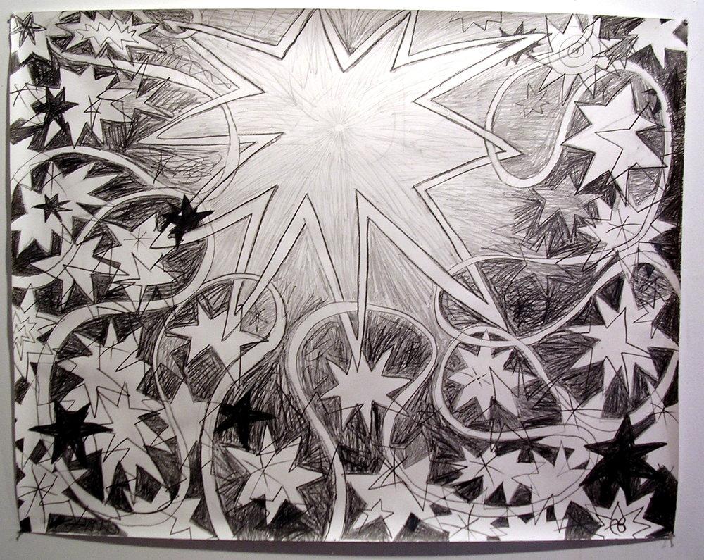 Starburst graphite on paper