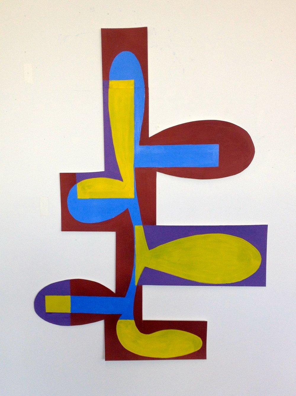 Tree gouache on paper 38.5 x 23