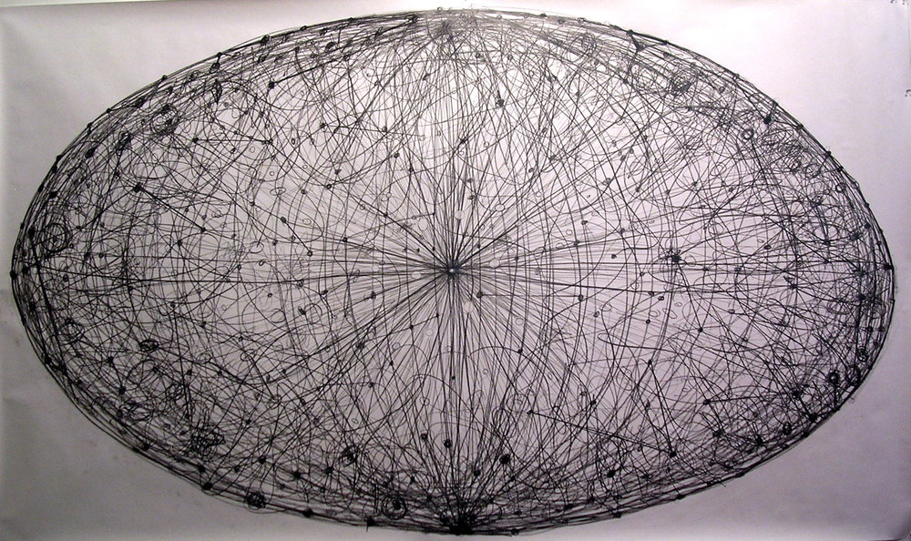 You Are Here graphite on paper 48 x 96 in.