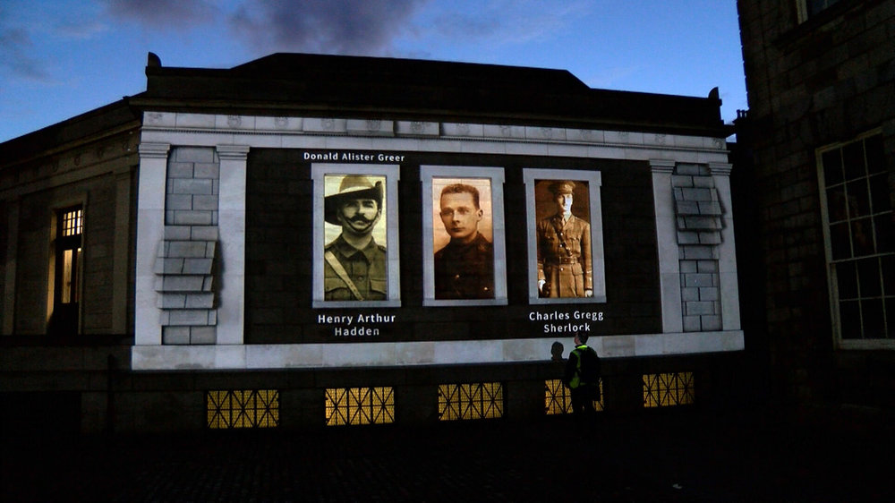 1916 Commemoration TCD Projection mapping 2D and 3D Motion Graphics