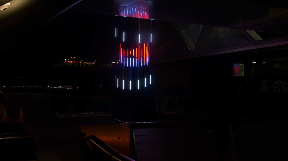Projection mapping in London using 3D and 2D motion graphics to create a sculpture design