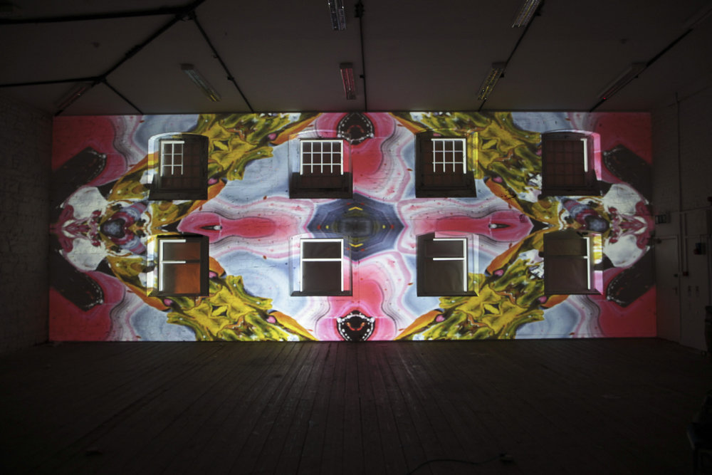 Projection mapping in Dublin Ireland with geometric fashion designs