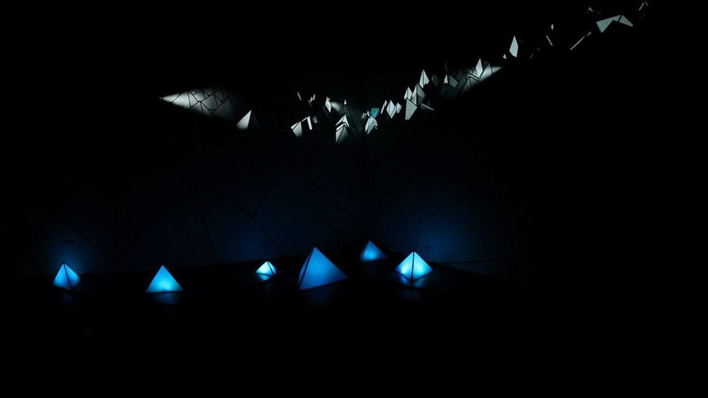 Galway Ireland a projection mapping and light installation with 3D and 2D motion graphics