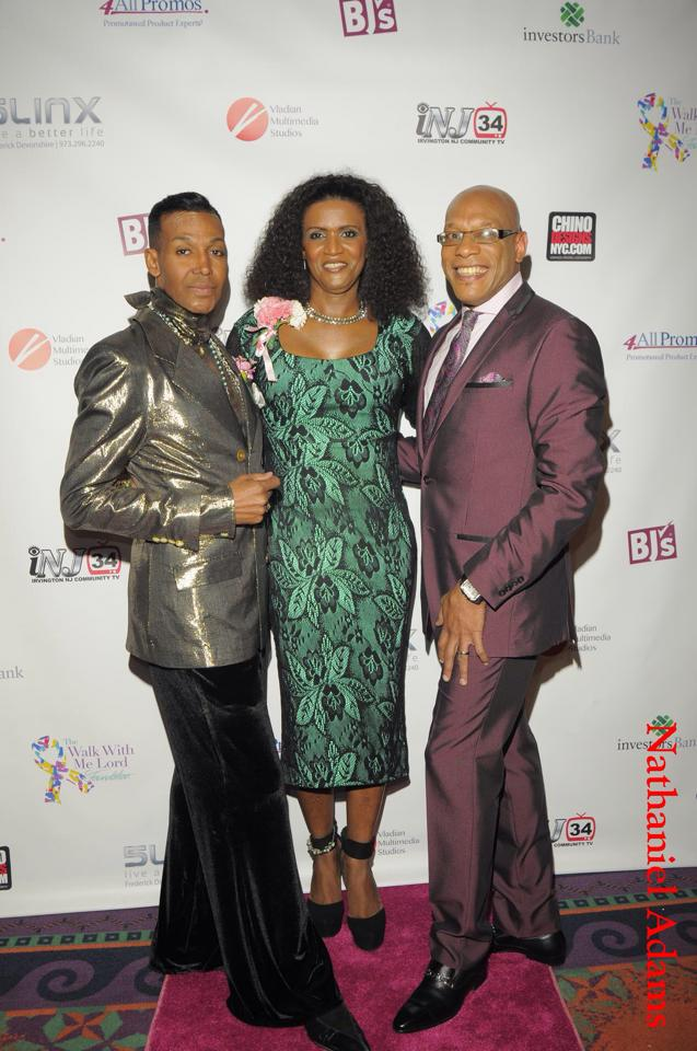 "JustRaymona with Dwight Eubanks (L) and Kyle ""The Voice"" Ambercrombie"
