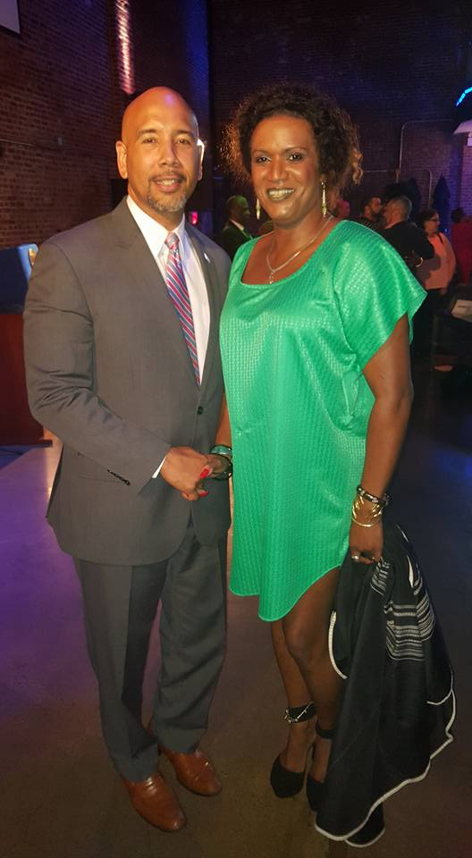JustRaymona with Bronx Borough President Rubin Diaz