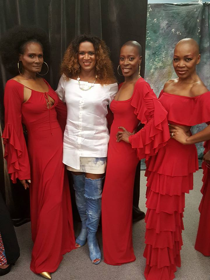 JustRaymona with Tracy Africa (L), Erica Carrington (M), Eda Francois-Smith (R)
