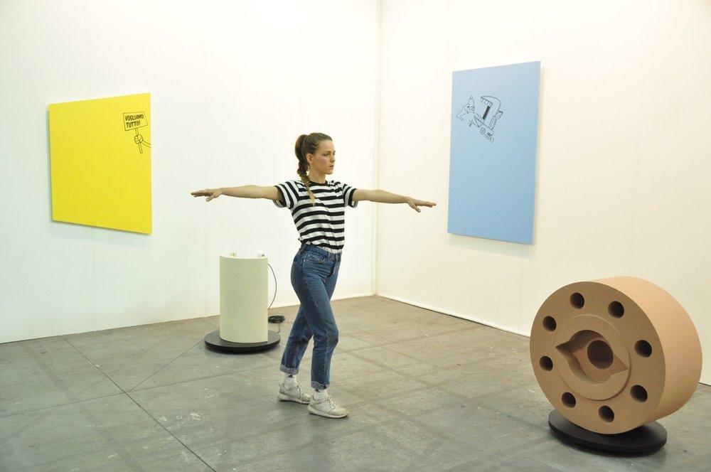 3 - 6 November 2016 -  Performer for the installation of Anna Franceschini , forVera Cortes Gallery - Lisbon, atArtissima 2016, Torino