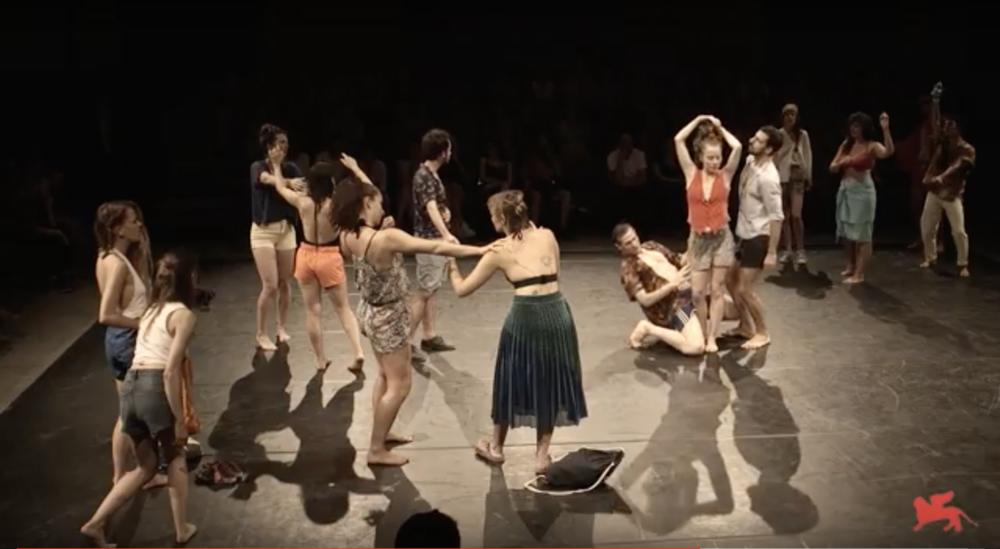 "july 20 - august 5 2018 -  dancer in  ""crowd"" , by GISéLE VIENNE, for Biennale College TEATRO, at TEATRO DELLE TESE DELL'ARSENALE, Biennale TEATRO 2018, Venezia"