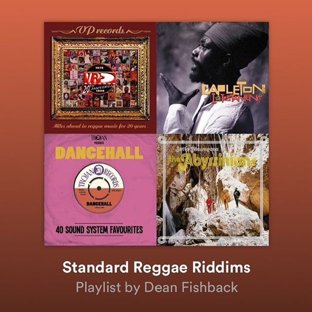 Check out my Spotify playlists for all your favorite Reggae songs, and many soon to be favorites.  Enjoy these Standard Reggae Riddims!!