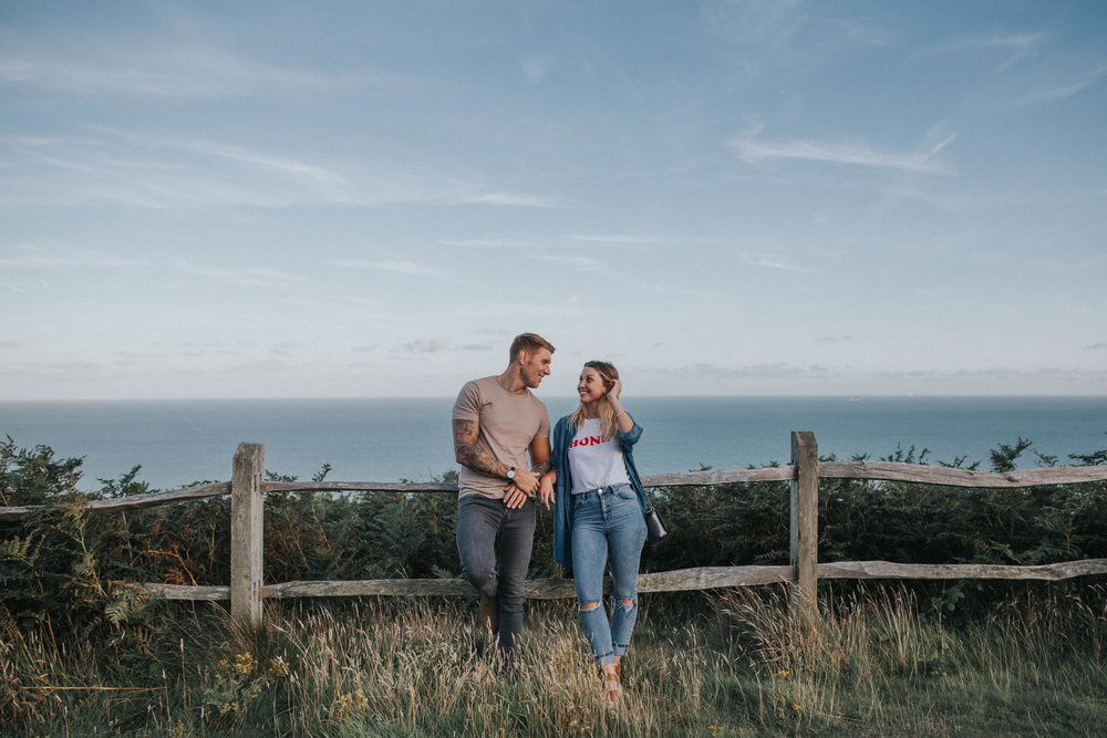 Engagement shoot in Hastings, East Sussex