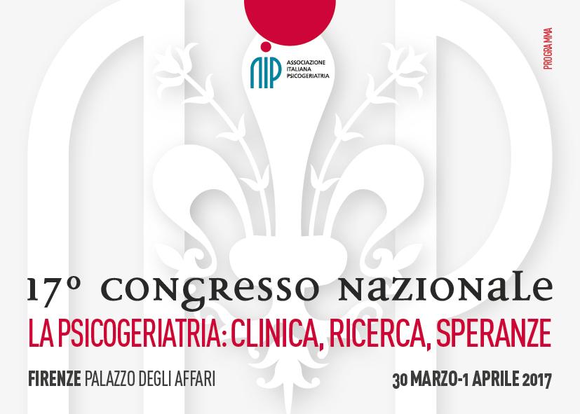 Grafica coordinata congresso dell'Associazione Italiana di Psicogeriatria