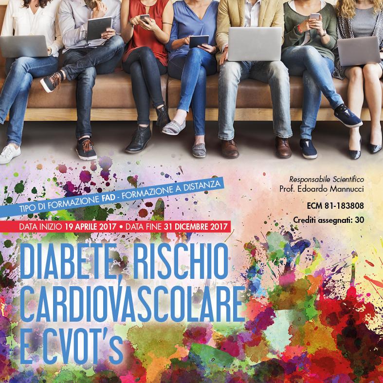 Grafica coordinata eventi Diabete, rischio cardiovascolare e CVOT's su Milano, Roma, Bari, Catania