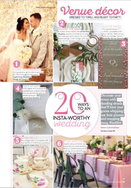 "Editorial Feature: ""20 ways to an Insta-Worthy Wedding"" Tie The knot Scotland"