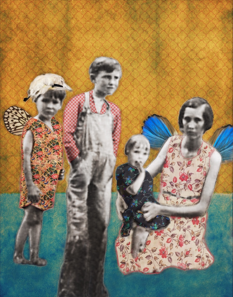 If We Had Wings. Digital collage with vintage photos.