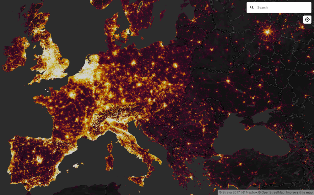 STRAVA Global Heat Map