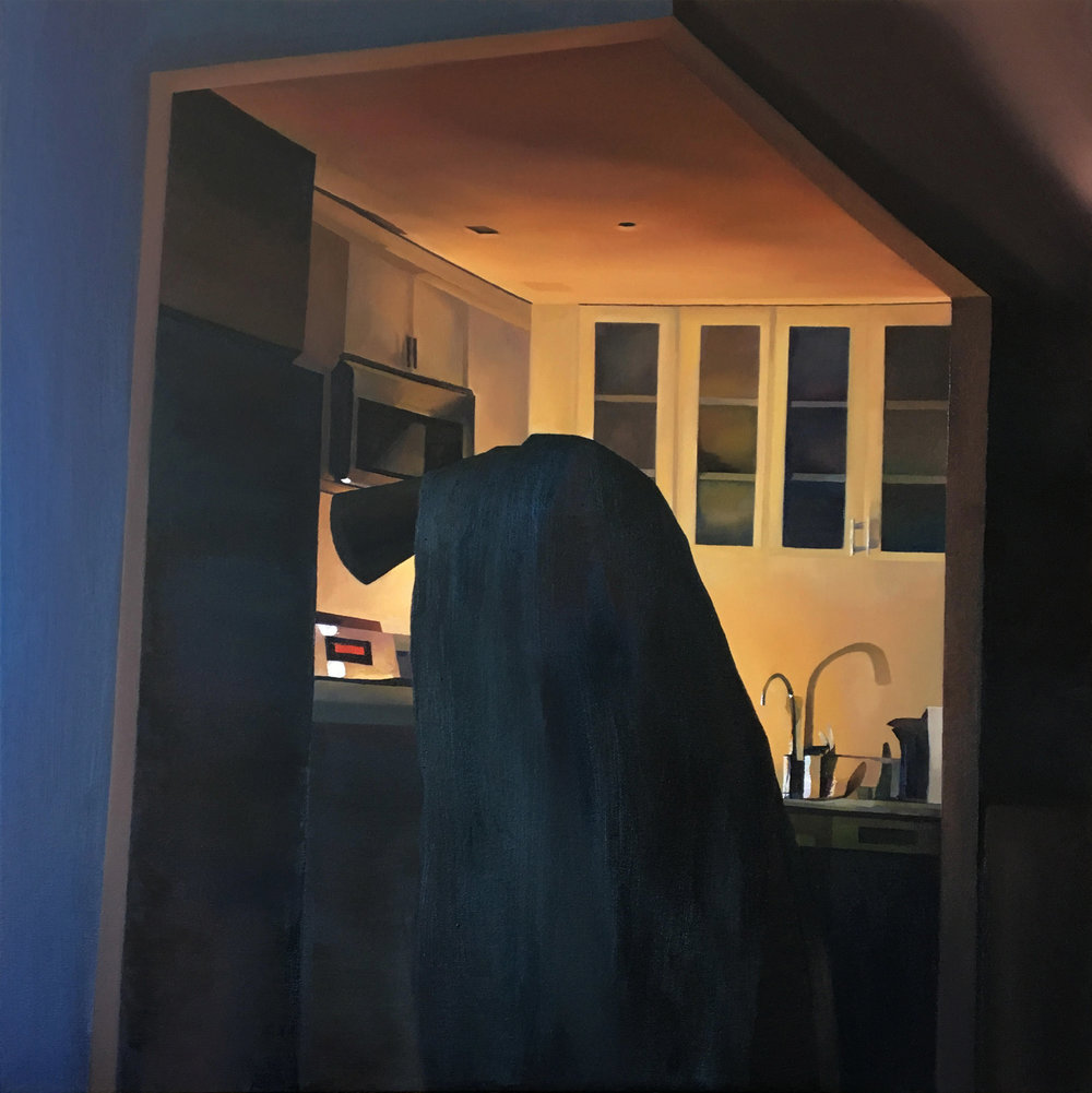Patience   Oil on Canvas  36 x 36 inches  2019