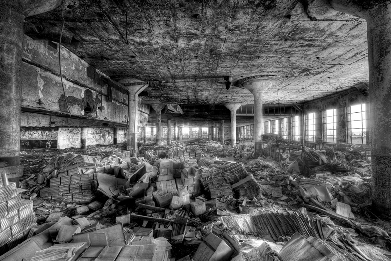 Shane Gorski,  Wasteland , from the Detroit Book Depository Set, 2008, Flickr, License: CC BY-ND 2.0.