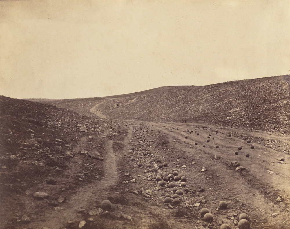 Roger Fenton,  Valley of the Shadow of Death , 1855. Getty Open Content.