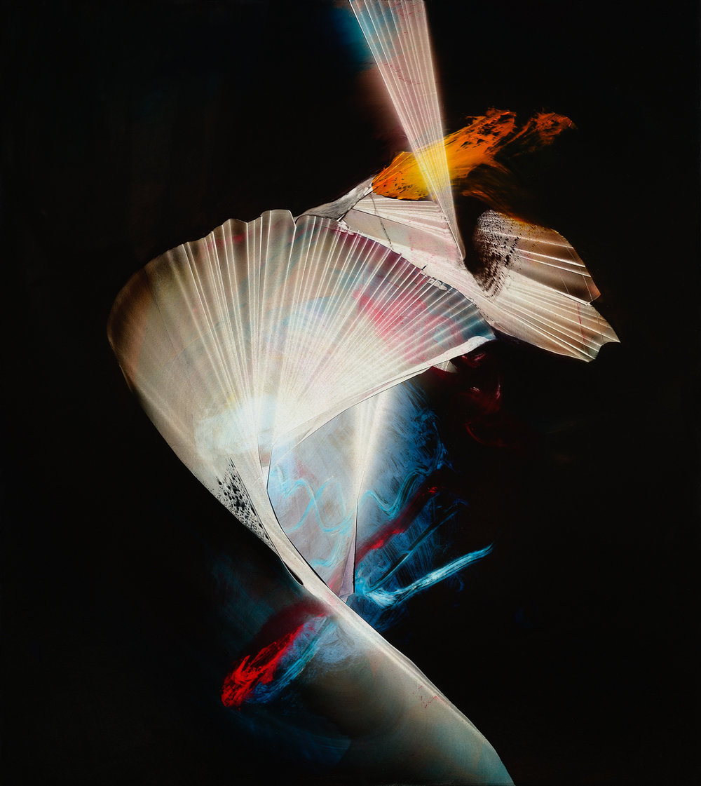 "Spectral Pitch, 2015, oil on panel, 18"" x 16"""