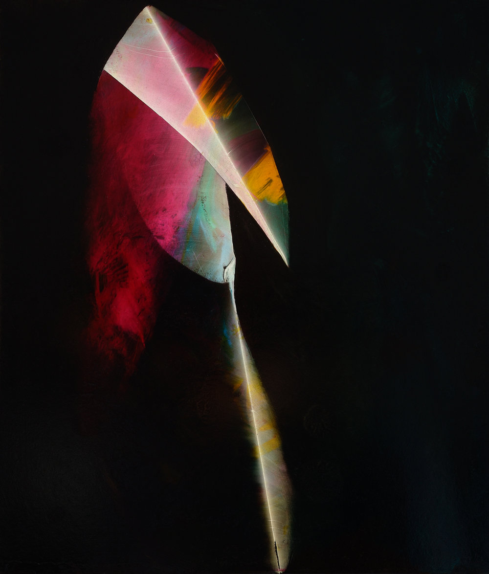 "Wand, 2015, oil on panel, 14"" x 12"""