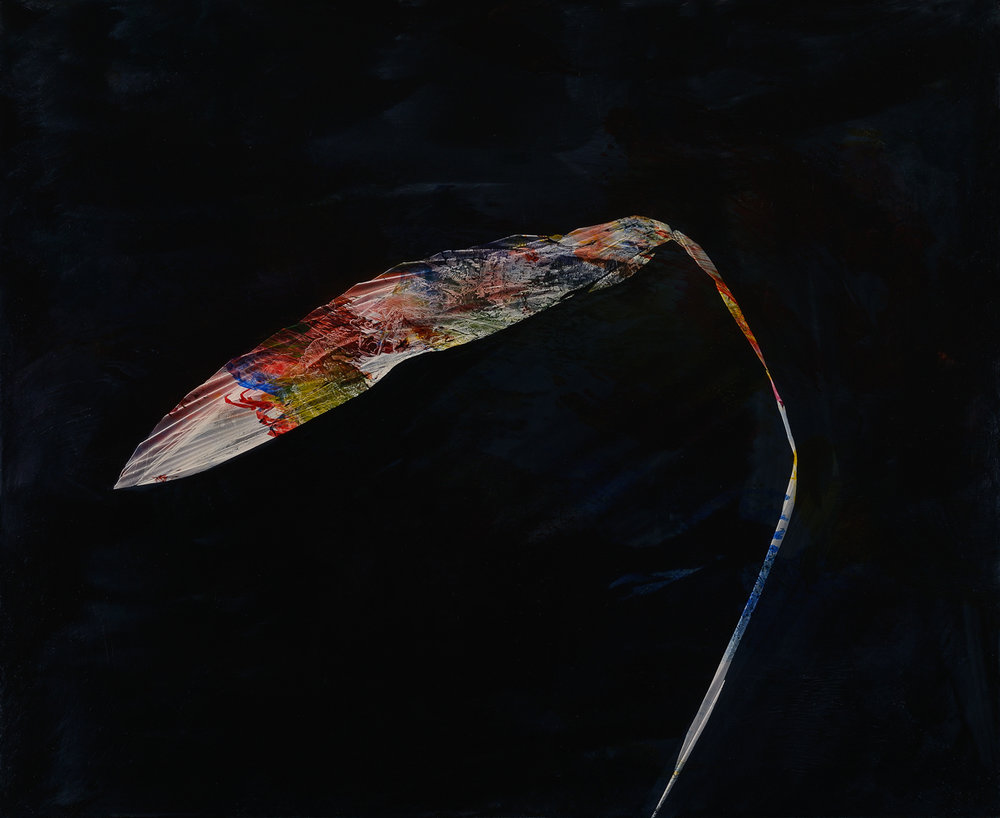 "Sword, 2015, oil on panel, 23"" x 28"""