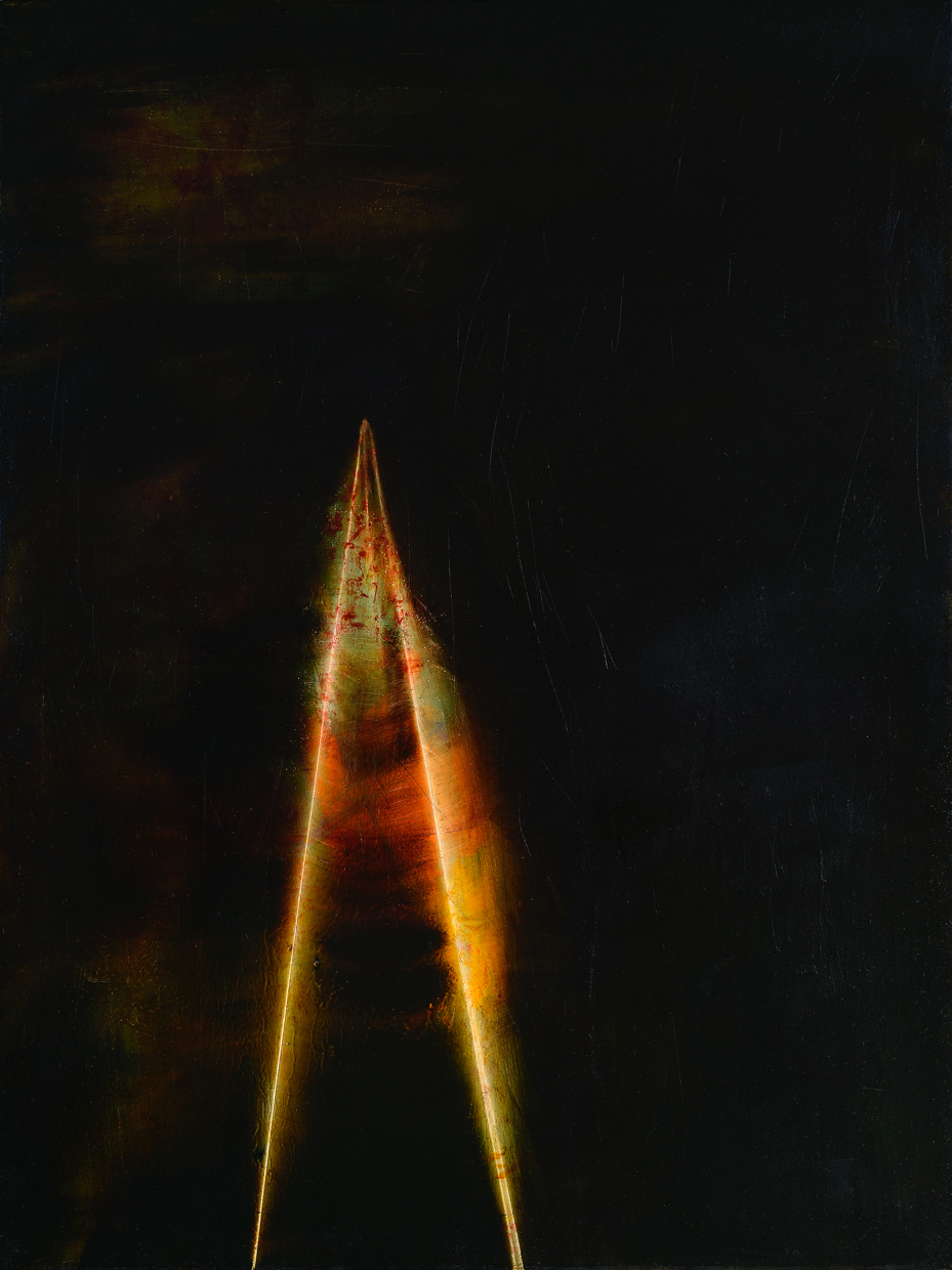"The Still Point, 2014, oil on panel, 24"" x 18"""