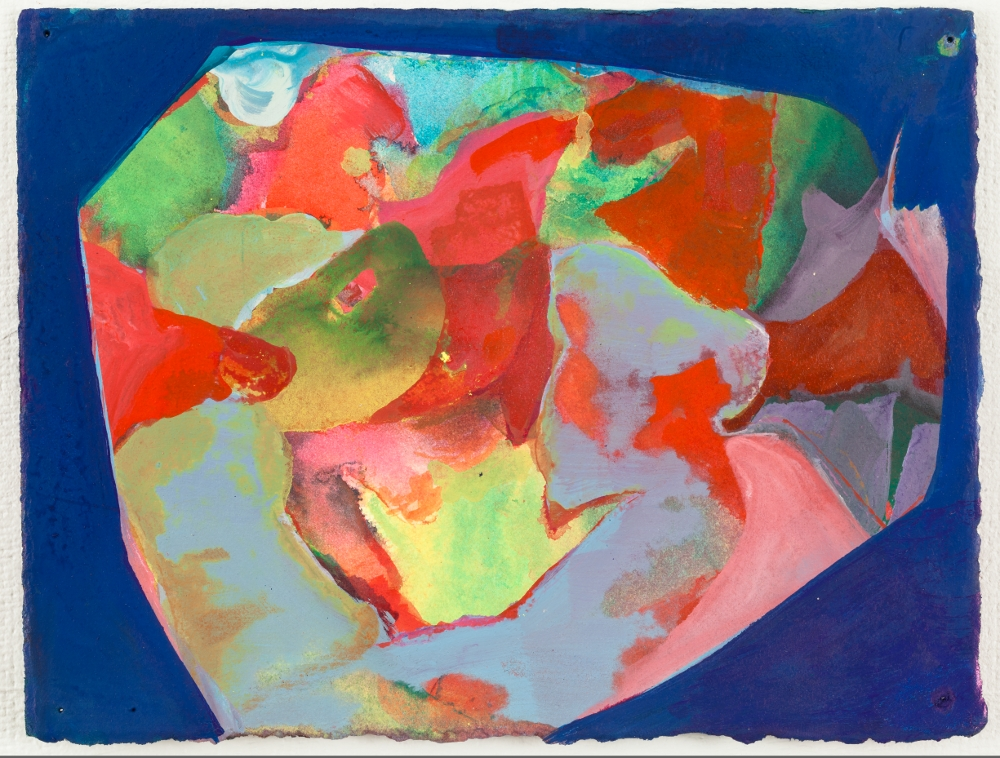 "Vessel, 2011, watercolor and acrylic on paper, 5-3/4"" x 7-1/2"""
