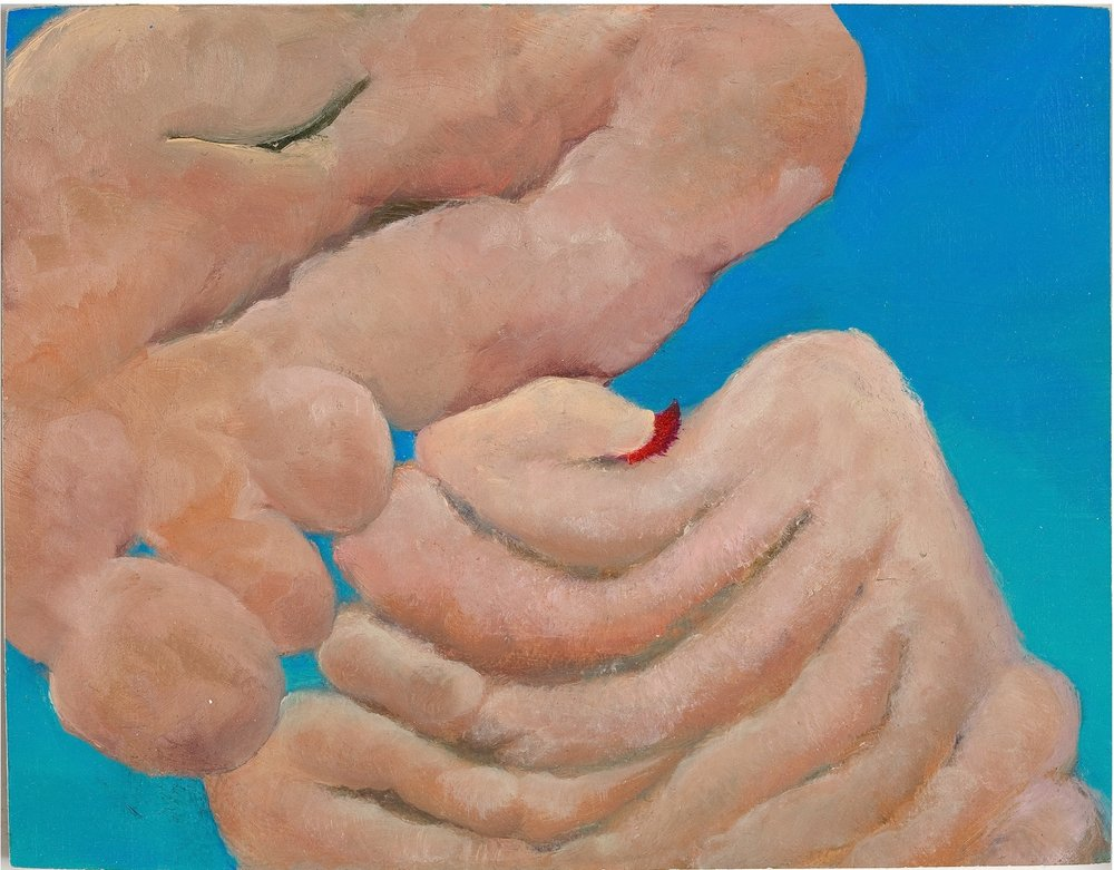 "Friends, 2009, oil on panel, 4"" x 5"""