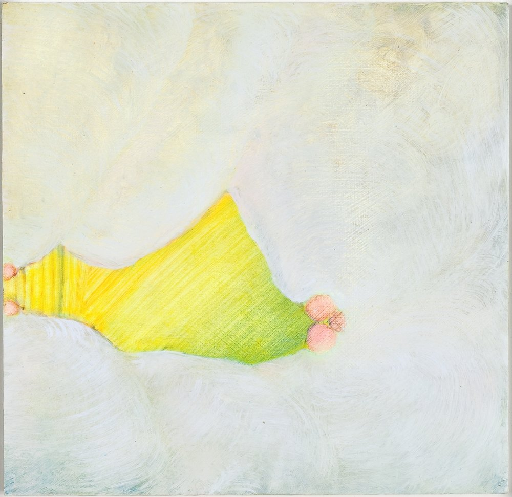 "Lullaby II, 2009, oil on panel, 7"" x 7"""