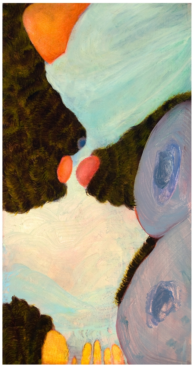 "Lullaby III, 2009, oil on panel, 11"" x 5-3/4"""