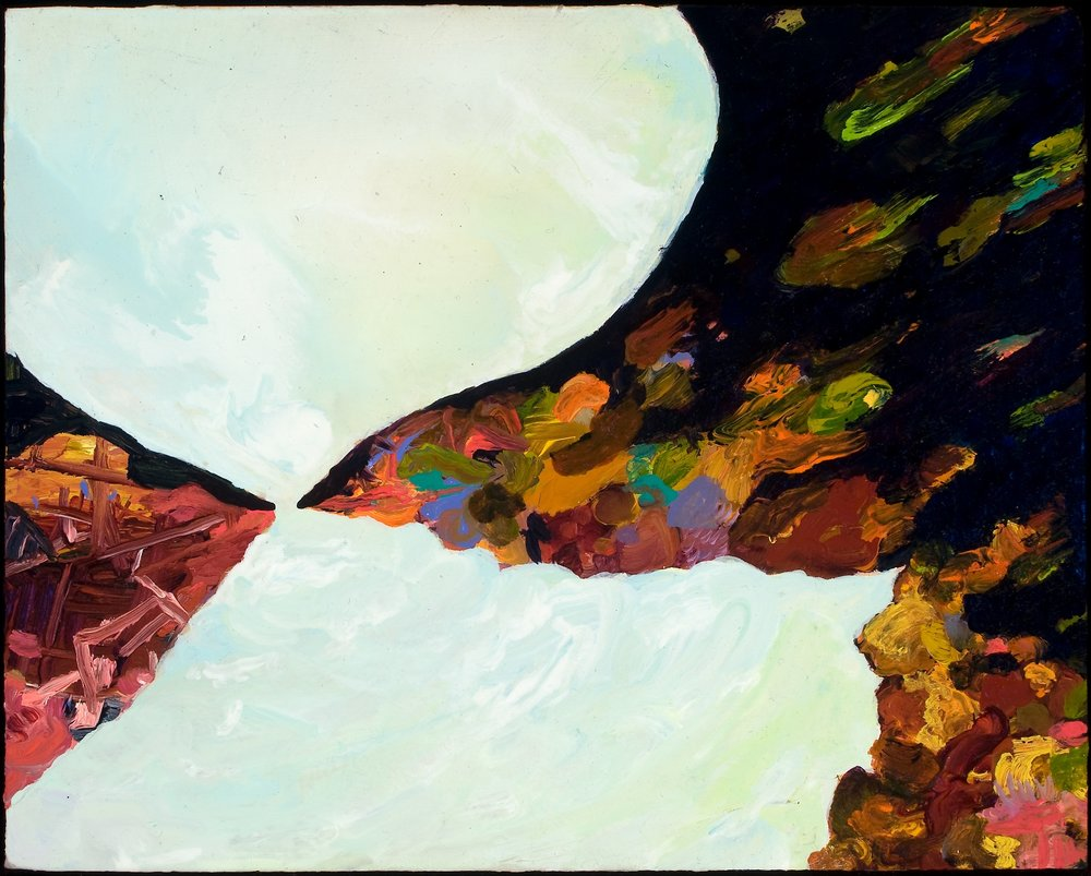 "Untitled (Thesis 4), 2008, oil on panel, 7-3/4"" x 9-3/4"""