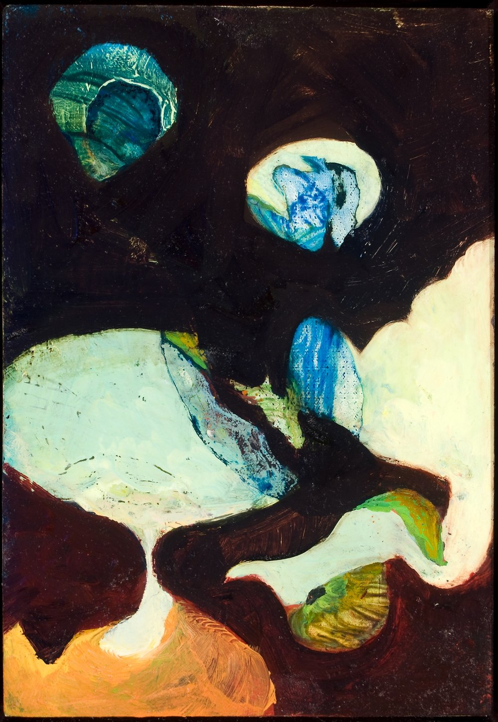 "Untitled (1), 2008, oil on panel, 7-3/4"" x 5-1/2"""